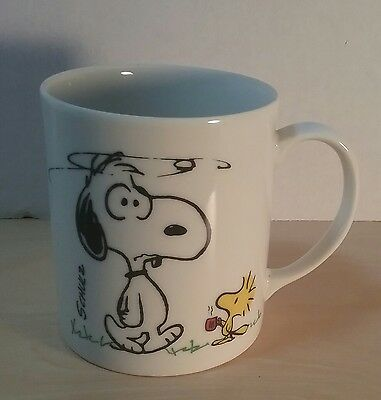 "Vintage 1965 Snoopy ""I'm Not Worth A Thing Before Coffee Break"" Mug"