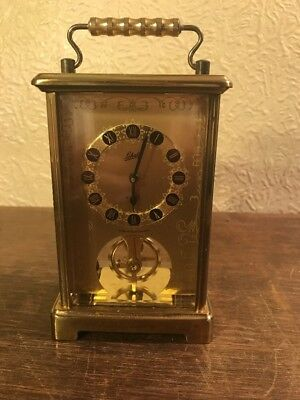 Vintage 'schatz' 8 Day Carriage Clock Wind Up Made In Germany