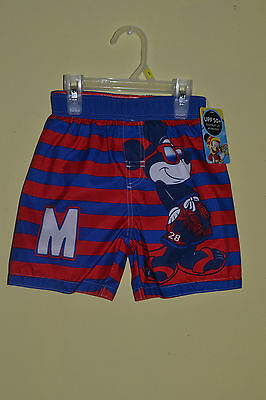 Boys Mickey Mouse Swimwear Size 3T Swimming Shorts New With Tags