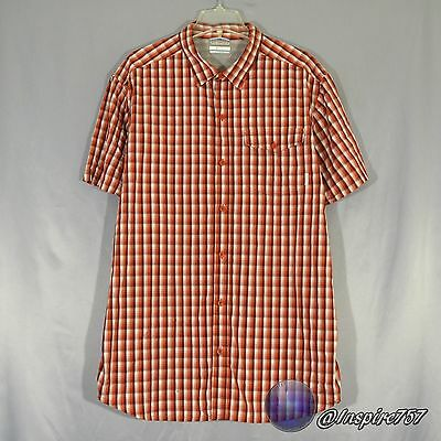Columbia Men's OMNI-WICKED Size XL Extra Large Short Sleeve Button Front Shirt