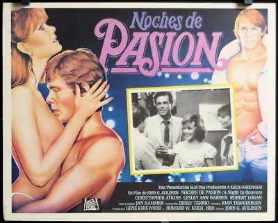 L519 A NIGHT IN HEAVEN original Mexican movie Lobby Card '83 Christopher Atkins