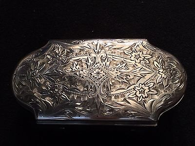 Antique Silver Trinket Dresser Box- Velvet Lined-Japan Mitsuwa & Co. LTD