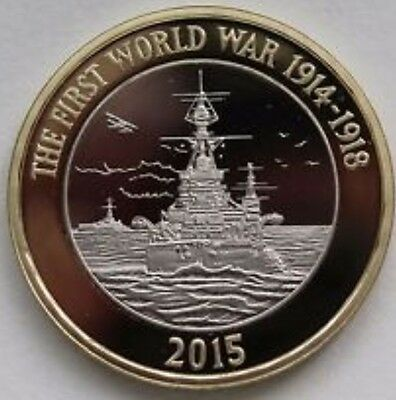 1#2015 Royal navy WW1 HMS belfast £2 two pound UNCIRCULATED COIN from sealed bag
