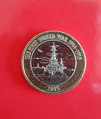 Royal Navy WW1 Belfast £2 two pound errorcoin UNCIRCULATED cat asleep on a mast