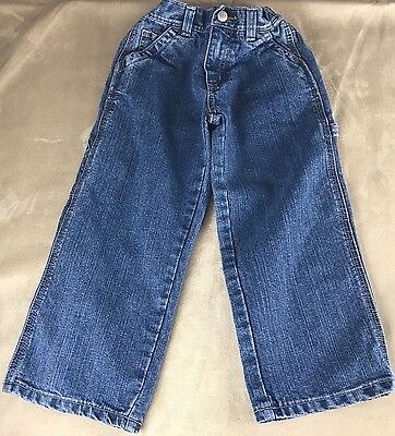 Old Navy Size 4T Painters Boys Jeans Medium Wash Stretchy Waist