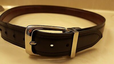 Chaps Boys Black Brown Reversible Bonded Leather Dress Belt  L 30-32