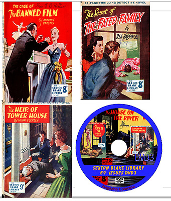 The Sexton Blake Library 59 Magazines on DVD British detective stories (No3)