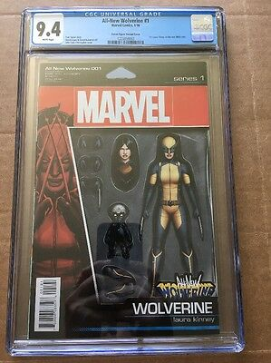 ALL-NEW WOLVERINE #1 (2016) CGC 9.4 (NM) 1st Print Action Figure Variant X-23