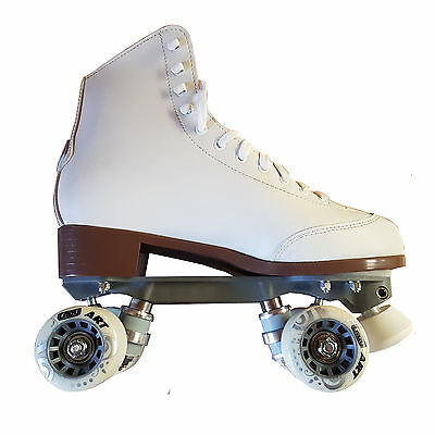 Crazy Skates Celebrity Art High White Quad Speed Roller Skates UK Size 8 Euro 42
