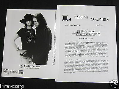 The Black Crowes 'A Tribute To A Work In Progress' 2000 Press Kit--Photo