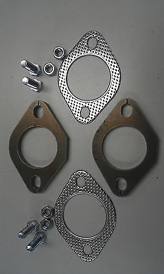 "Exhaust Flange Plates 51Mm 2""inch Gaskets & Bolts"