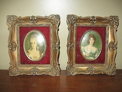 "Pair Of "" Cameo Creations "" Framed Pictures"