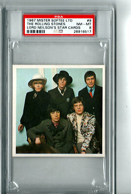 1967 Rolling Stones PSA 8 Mister Softee Lord Neilson's Star Cards # 9 POP 1/4
