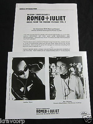 Radiohead/quindon Tarver 'Romeo + Juliet Ost Vol. 2' 1997 Press Kit—Photo