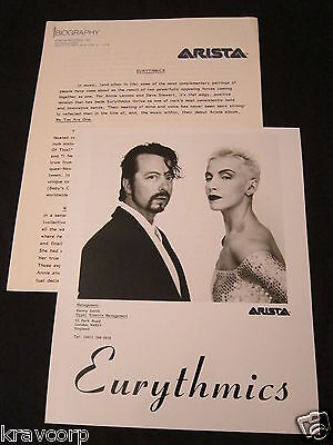 Eurythmics 'We Too Are One' 1989 Press Kit--Photo