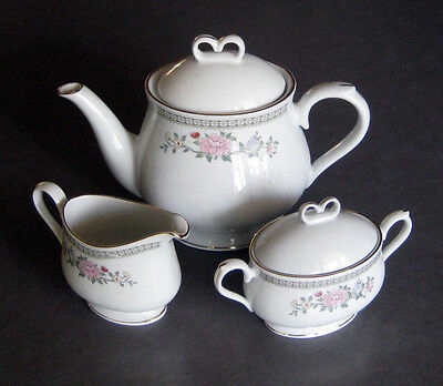 Vintage 'Winley Floral On White' Teaset 'new' Un-Used