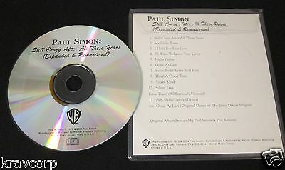 Paul Simon 'Still Crazy After All These Years' 2004 Advance Cd Reissue