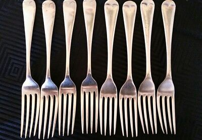 EPNS Silver Plated Forks x 8