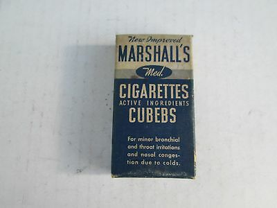 Marshall's Cigarettes Cubebs - Marshall Cigarette Company New York NY