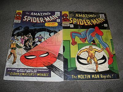 Amazing Spiderman # 22 & 35 ( 2 books ) VG no CGC