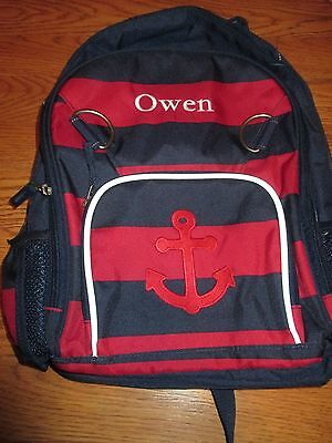 Boy Pottery Barn Kids Backpack Rugby Stripe Nautical Small Owen