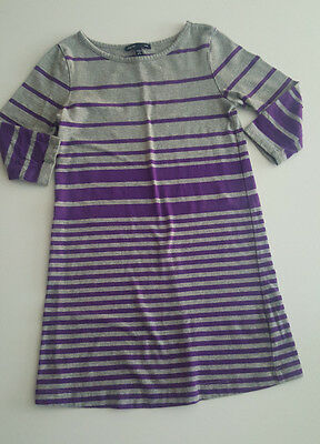 Girl's Gap Kids Purple & Gray Dress S (6-7)
