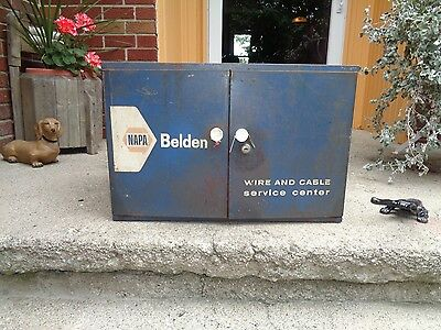 """VINTAGE NAPA BELDEN """"WIRE and CABLE SERVICE CENTER"""" W/KEY GOOD GRAPHIC'S  GOOD"""