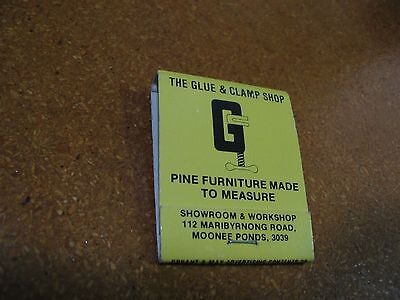 """The Glue and Clamp Shop"" Vintage Matches Matchbook Match Book - Collectable."