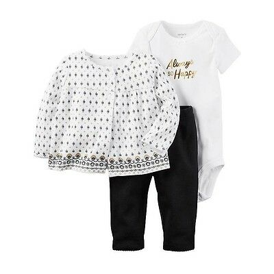 NWT Carter's baby girl 3-piece set Newborn