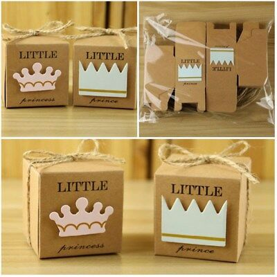 10pcs Paper Candy and Gifts Boxes Little Prince Princess Wedding Party Souvenirs