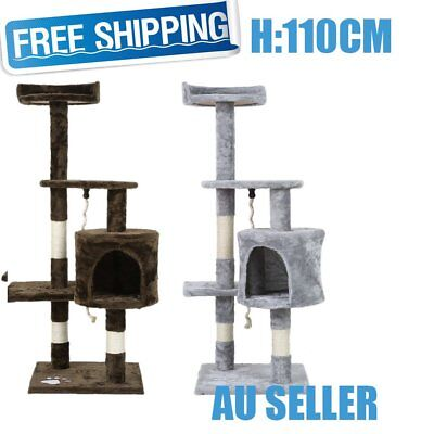 1.1M Cat Scratching Post Tree Gym House Condo Furniture Scratcher Pole AUSR