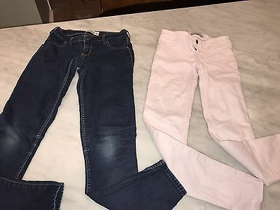 Lot Of 2 Girls Abercrombie Jeans. Pink And Blue Denim 14/16