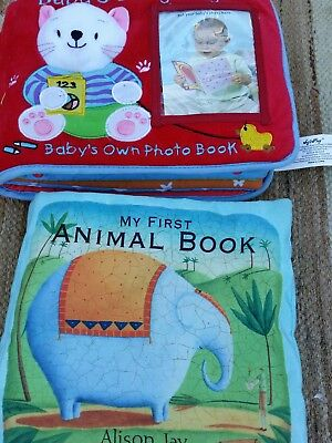 3 x Baby cloth books Exc condition