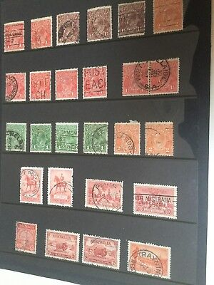 KGV and other OLD PRE-DECIMAL STAMPS... mainly KGV.   ( UNCHECKED)