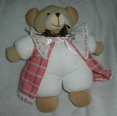 Playgro Tebby Bear With Rattle Inside~Priscilla Larson 1998~Signature On Tag