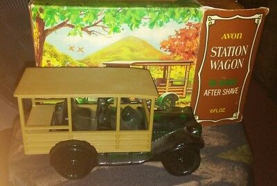 Avon Station Wagon Decanter Bottle Wild Country After Shave 6 oz FULL nib