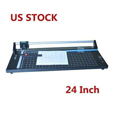 US Stock 24 Inch Manual Precision Rotary Paper Trimmer, Sharp Photo Paper Cutter