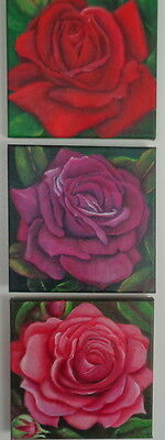 """little Roses 2""   Original Acrylic Painting By Robin Mcguiness"