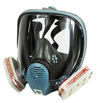 Full Face Facepiece Respirator Gas Mask Reusable for Painting Spraying 3M 6800