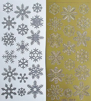 Snowflakes PEEL OFF STICKERS Snowflake Small Medium Large Christmas Cardmaking