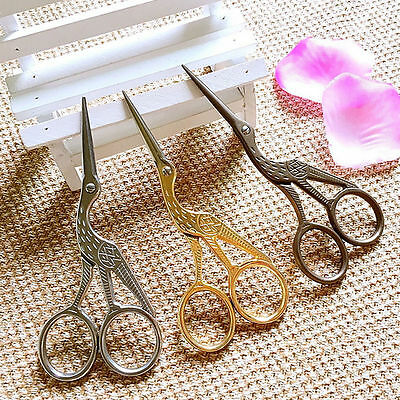Popular Vintage Stork Embroidery/cross Stitch/sewing Craft Scissors.3 Cols Avail