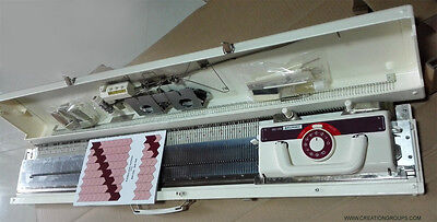 New Creative KH160 6mm Mid Gauge Knitting Machine with Built In Intarsia