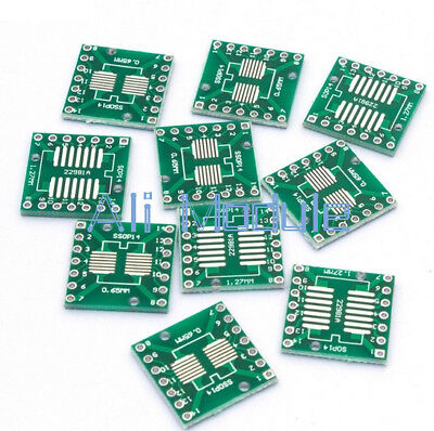 20PCS SSOP14 SOP14 TSSOP14 to DIP14 PCB SMD DIP/Adapter plate Pitch 0.65/1.27mm
