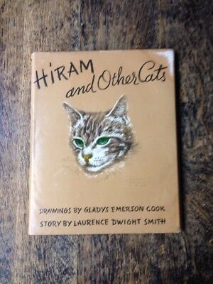 "Gladys Emerson Cook Drawings In Vintage 1941 Book ""Hiram & Other Cats"" *"