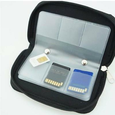 Memory Card Storage Carrying Pouch Case Holder Wallet For CF/SD/SD HC/MS/DS