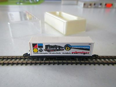 "Marklin mini-club Container Car ""750 Years Berlin"" Boxed 1:220 Z Scale"