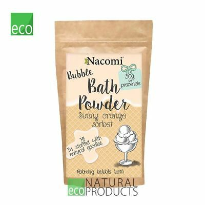 Nacomi Natural Relaxing Bubble Bath Powder Sunny Orange Sorbet 100g