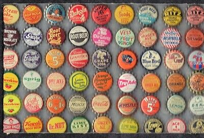 54  Diff.  Soda  Bottle Caps  Cork Unused  You Grt Thr Caps Only # 1