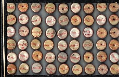 54  Coca-Cola  Soda  Bottle Caps  Cork Some Has Holes You Grt Thr Caps Only