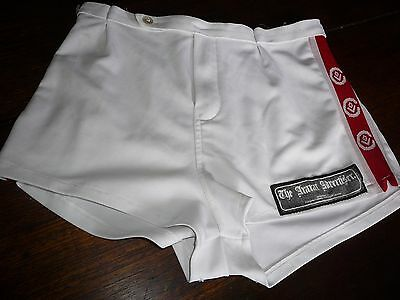 afl vfl cfl footy shorts white red